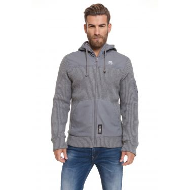 Sweat gilet épais gris