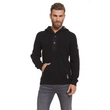 Pull ccol bouton noir