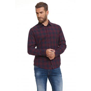 Chemise carreaux bleu marine