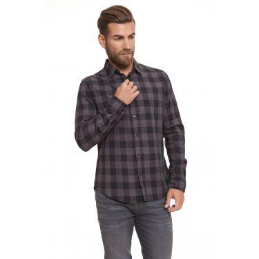 Chemise carreaux gris