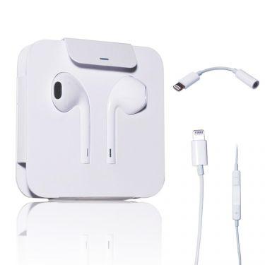 Ecouteurs Apple EarPods Lightning pour iPhone 7 & iPhone 7 Plus + câble adaptateur - Blanc