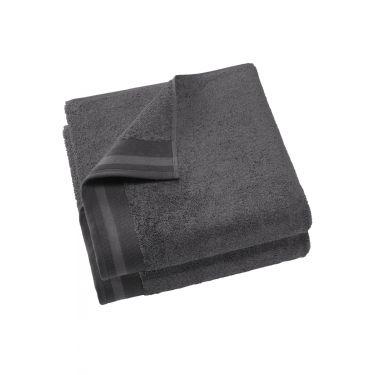 Lot de 2 Draps de douche 70x140 cm gris foncé