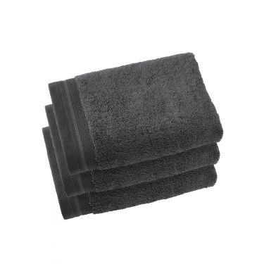 Lot de 3 serviettes 50x100 cm gris foncé