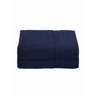 Lot de 2 Draps de douche 70x140 cm bleu foncé