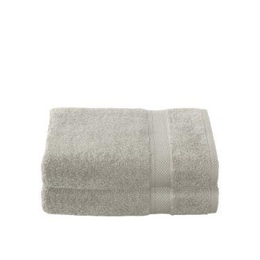 Lot de 2 Draps de douche 70x140 cm gris