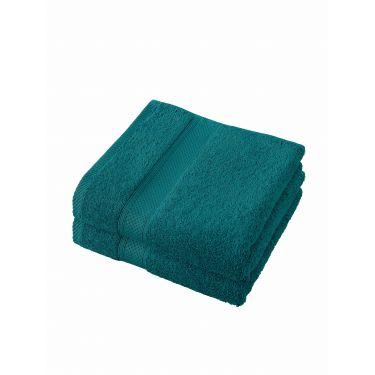 Lot de 2 serviettes 50x100 cm bleu canard