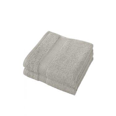 Lot de 2 serviettes 50x100 cm gris