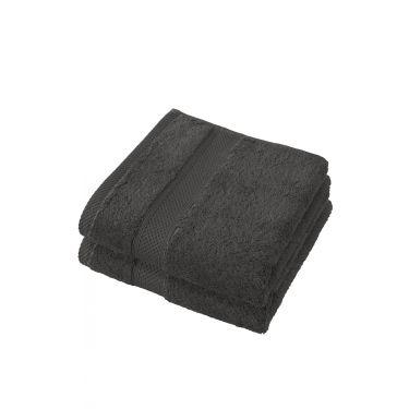 Lot de 2 serviettes 50x100 cm ébène