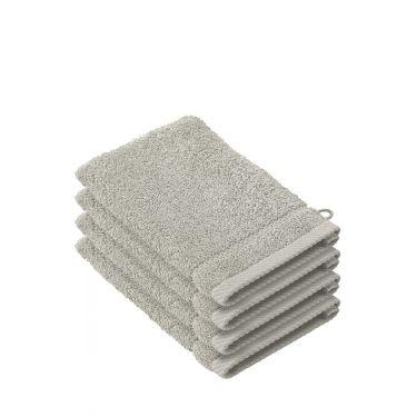 Lot de 4 gants de toilette gris