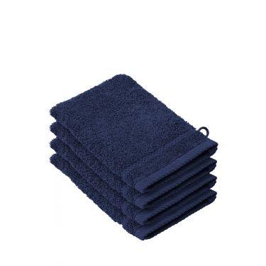 Lot de 4 gants de toilette bleu foncé