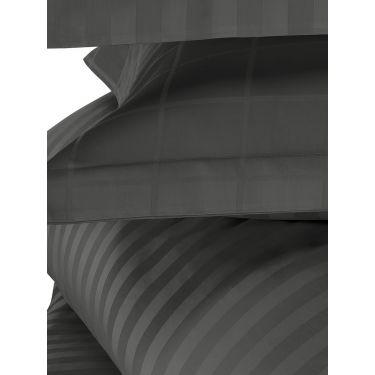 1 Housse de couette 240x220 cm + 2 Taies d'oreiller Ebène