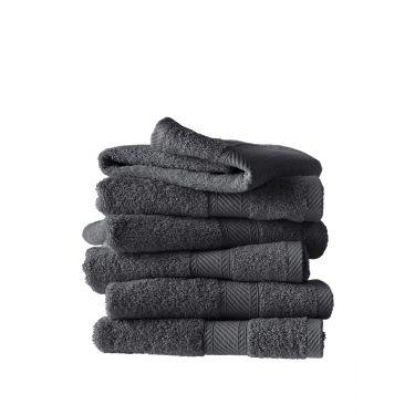 Lot de 6 serviettes 50x100 cm ébène