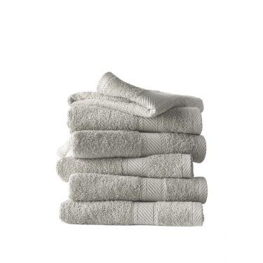 Lot de 6 serviettes 50x100 cm gris