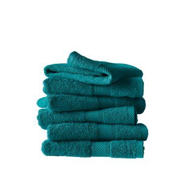 Lot de 6 serviettes 50x100 cm bleu canard