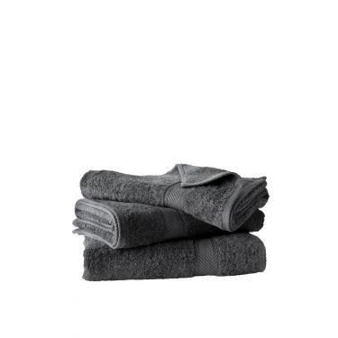 Lot de 3 draps de douche 70x140 cm ébène