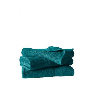 Lot de 3 draps de douche 70x140 cm bleu canard