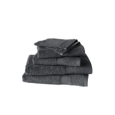 Set de 2 gants + 2 serviettes + 2 draps de douche ébène