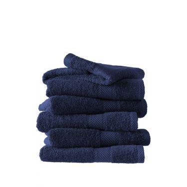 Lot de 6 serviettes 50x100 cm bleu foncé