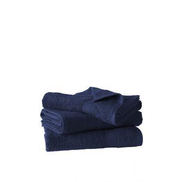 Lot de 3 draps de douche 70x140 cm bleu foncé