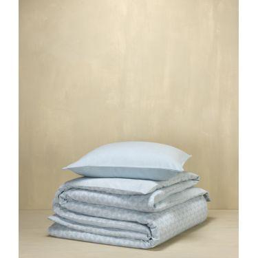 1 Housse de couette 140x200/220 cm + 1 Taie d'oreiller Bleu gris