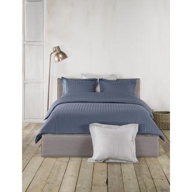 1 Housse de couette 260x220 cm + 2 Taies d'oreiller Bleu