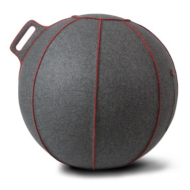 Seating ball grise-rouge