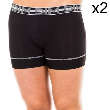Lot de 2 Boxers 3D Flex Air Noir/Noir