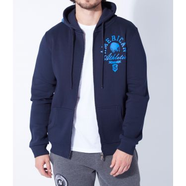 Sweat zippé Mike Bleu marine
