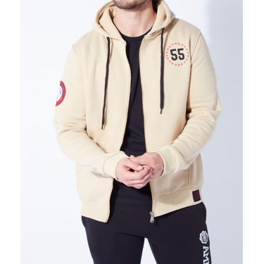 Sweat zippé Ted Beige