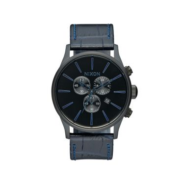 MONTRE Sentry Chrono Leather Navy Gator