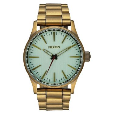MONTRE Sentry 38 SS All Brass / Green Crystal