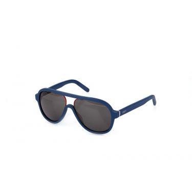 lunettes de soleil Bleu Mat