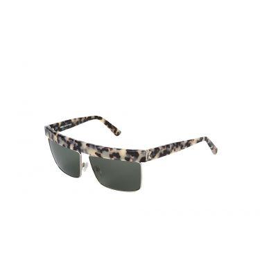 lunettes de soleil ecaille/blanc