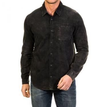 Chemise noire délavée