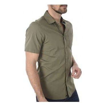 Chemise vert bouteille