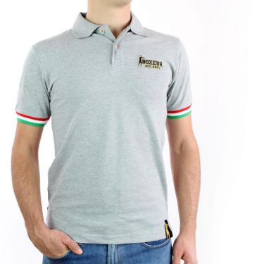 Polo gris col simple