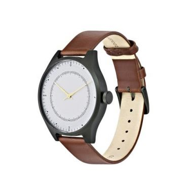 Green aluminum w/ Offwhite Dial and Light Brown Leather Strap