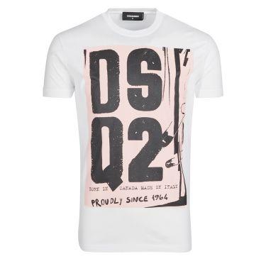 T-shirt blanc DSQ2
