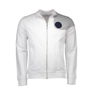 Sweatshirt avec zip - blanc
