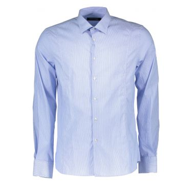 chemise manches longues longues bleu clair