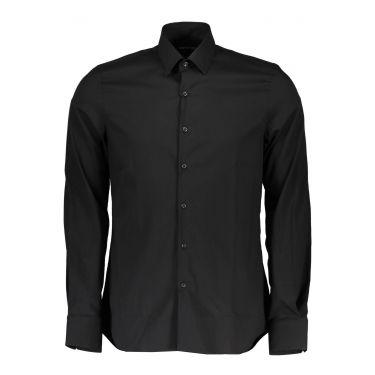 chemise manches longues noire