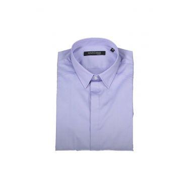 chemise manches longues bleu clair
