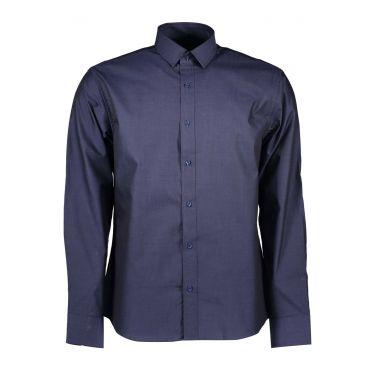 Chemise à manches longues Bleu