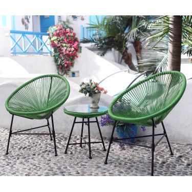Ensemble 2 fauteuils + Table style Scoubidou