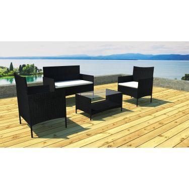Salon de jardin Canapé + 2 fauteuils + 1 table basse