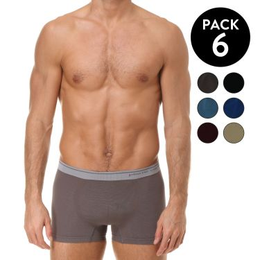 Lot de 6 Boxer multicouleur