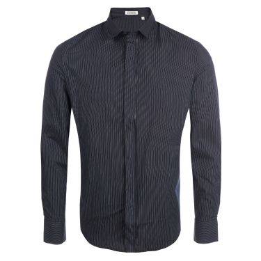 Shirt pinstriped blue