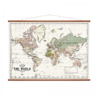 Carte du monde white