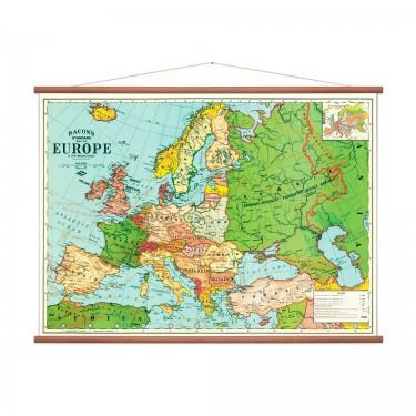 Carte d'Europe vintage