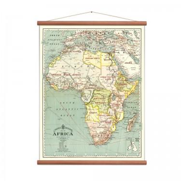 Carte d'Afrique vintage